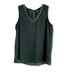 Maurice's green tank top blouse size large